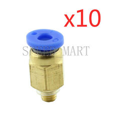 10XMale Connector Tube M5*0.8metric Threaded Pneumatic Quick Release Air Fitting