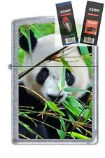 Zippo 0234 giant panda Lighter with *FLINT & WICK GIFT SET*