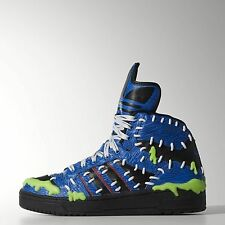 New Mens Adidas Jeremy Scott Mad Balls Logo Shoes 9.5 Blue FRANKENSTEIN M18992