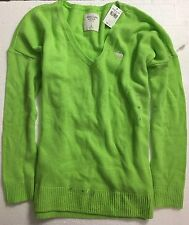 New with Tag Women Abercrombie & Fitch V Neck Sweater Jacket Shirt Sz M