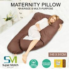 Pregnancy Pillow Maternity Belly Contoured Body Extra Comfort Cuddler U Shape