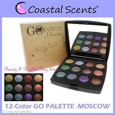 NEW Coastal Scents 12-Color GO PALETTE MOSCOW Eye Shadow Compact FREE SHIPPING