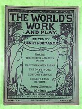 THE WORLD'S WORK & PLAY - Edwardian Shilling Monthly - March 1905 - Henry Norman