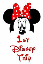 DISNEY  MINNIE MOUSE MY 1st TRIP VACATION  FABRIC/T-SHIRT IRON ON TRANSFER