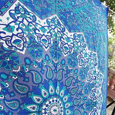 Twin Star Blue Mandala Wall Tapestry decor beach throw high fashion Gift HDOT