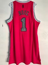 Adidas Swingman NBA Jersey CHICAGO Bulls Derrick Rose Red Reverse Static sz 2X