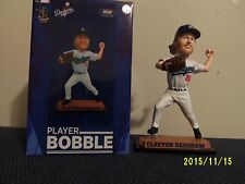 Los Angeles Dodgers Clayton Kershaw Real Jersey Bobblehead #'d 1 Of 600 RARE NIB