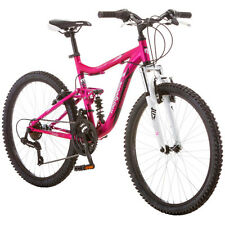 "24"" Mongoose Ledge Girls Mountain Bike 21 Speed Shimano Full Suspension Aluminum"