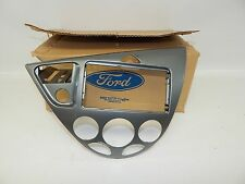 New OEM 2001-2003 Ford Focus Front Center Dash Instrument Panel Bezel Trim Gray