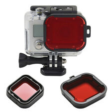 Underwater Sea Diving Snap on Red Lens Filter for GoPro Hero3+ 4Housing Case BDA