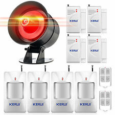 Wireless Adjustment  Voice Sound&Flash Siren Security Alarm System for Home