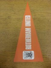 1969/1970 Football Pictorial Cut-Out: Pennant Collection - Rotherham United. Unl