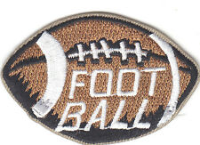 """FOOTBALL"" PATCH- Iron On Embroidered Applique - Football, Sports"
