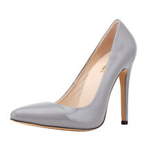 LADIES WOMENS MID HIGH HEEL WEDDING BRIDAL PROM STILETTO COURT SHOES SIZE 4-11