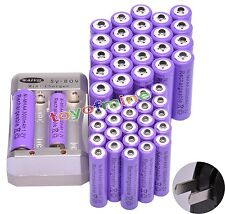 24x AA 3000mAh + 24x AAA 1800mAh Rechargeable 1.2V Ni-MH Pruple Battery+ Charger
