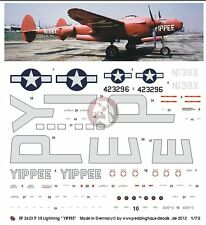 Peddinghaus 1/72 P-38J-20-LO Lightning YIPPEE Markings Special 5000th plane 2623