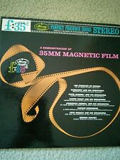 A DEMONSTRATION OF 35MM MAGNETIC FILM - F.35 MERCURY VG VINYL LP RECORD - F