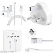 OFFICIAL APPLE MAINS CHARGER + Lightning Cable iPhone 6S Plus 6 Plus 5.5'' 6S 5S