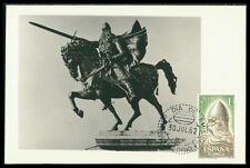 SPAIN MK 1962 EL CID PFERD HORSE MAXIMUMKARTE CARTE MAXIMUM CARD MC CM az66