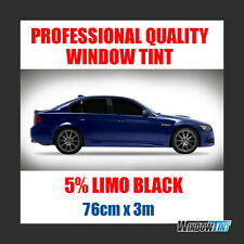 5% LIMO BLACK PRO CAR WINDOW TINT FILM ROLL 76CMx3M