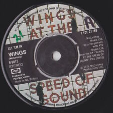 "PAUL McCARTNEY & WINGS Let 'Em In / Beware My Love UK 7"" VINYL R 6015"
