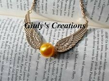 Collana HARRY POTTER boccino d'oro con ali super dettagliate golden snitch HP