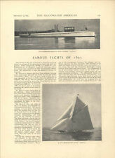 1891 Ocean Yachts American Yachting Famous New York Owners Munro MacDonough Old