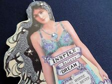 Inspire Believe Dream Nautical Mermaid Beach Ornament Small Wood Sign Decoration
