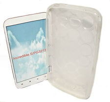 SILICONE TPU Cover Per Cellulare Custodia Guscio Guscio IN ACQUAMARINA per HTC Incredible S