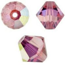 Genuine Swarovski Crystal Bicone.Light Rose AB Color. 3mm. Approx. 144 PCS. 5328