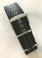 Original Citizen PRT Black/ Gray Canvas Band Nylon Strap for Watch AW7030-06E