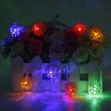 Multi Color 40 LED Metallic Gold Wire Ball Shape String Light Xmas Home Decor