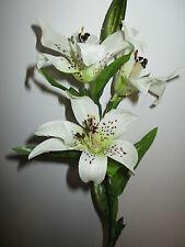 6 Lilien 60 cm weiß Kunstblumen Lilie künstlich Seidenblumen Floristik wie echt