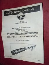Vintage A.R.A. Speed Control for Manual Transmission 6799523 NEW