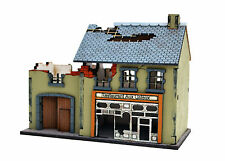 20MM WARGAMES SCENERY RUINED RESTAURANT BUILDING MODEL FLAMES OF WAR-BOLT ACTION