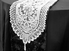 """14""""x108"""" WHITE LACE TABLE RUNNER Wedding Party Catering Event Romantic Linens"""