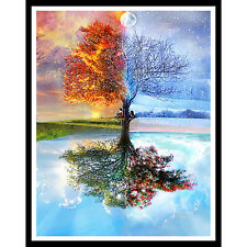 5D DIY Diamant Malerei Stickerei Kreuzstickerei Painting Cross Stitch Dekor Baum