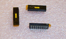 QTY (20) 8-1437581-6 ASF62G TYCO ALCOSWITCH 2 POSITION 18 PIN FLUSH SLIDE SWITCH