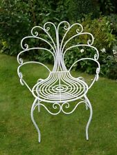 ONE White FUNKY Vintage RETRO Metal Repro PEACOCK GARDEN CHAIRS Stackable Stool