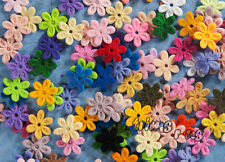17 mm Felt Flower Appliques Crafts Dolls Trims Random Colours x 50 Mix #2010