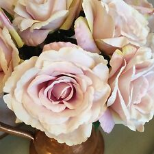Singolo vintage Artificiale Viola English Rose, singoli realistico SILK FLOWER