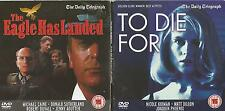 THE EAGLE HAS LANDED + TO DIE FOR - 2 Great Films on one DVD
