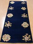 "2'8""x6'1"" Chinese Peking ART DECO Hand Knotted Wool NAVY NEW RUNNER Oriental Rug"