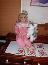 """Fayzah Spanos vinyl doll 27"""" tall Twinklee Rose free shipping"""