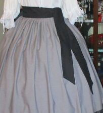 """CIVIL WAR DRESS VICTORIAN STYLE 100% COTTON """"SASH""""---MANY COLORS~82 IN X 3 INCH"""