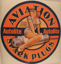 Autolite Aviation Spark Plugs Pin Up Girl Decal DEC-0123