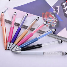 Hot Touchable Crystal Phone Screen Capacitive Stylus Pen+Ball Point Writing Pen
