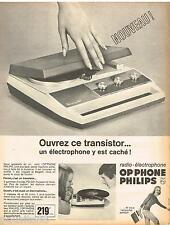 PUBLICITE ADVERTISING 105  1967  PHIIPS  radio-éléctrophone OR'PHONE