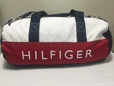 NWT TOMMY HILFIGER  DUFFLE/GYM BAG COLOR  NAVY/RED/ WHITE  LARGE