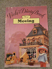 "Playmobil Vickis Diary Booklet ""Moving"" Victorian Mansion 5300-Rare Vintage Find"